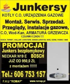 FHU ROMAP CZESTOCHOWA TEl 606-753-157 INSTALACJE GAZOWE, C.O , WOD-KAN, JUNKERSY, KOTŁY,