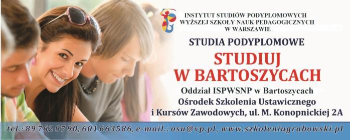 Przygotowanie pedagogiczne, Bartoszyce, oferta