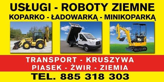 Usługi Koparko Ładowarka Minikoparka Wywrotka 3.5T Roboty Ziemne, oferta