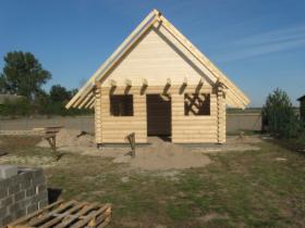 DOM z BALI, drewno BAL toczony 20cm 34+34m2 25000tys