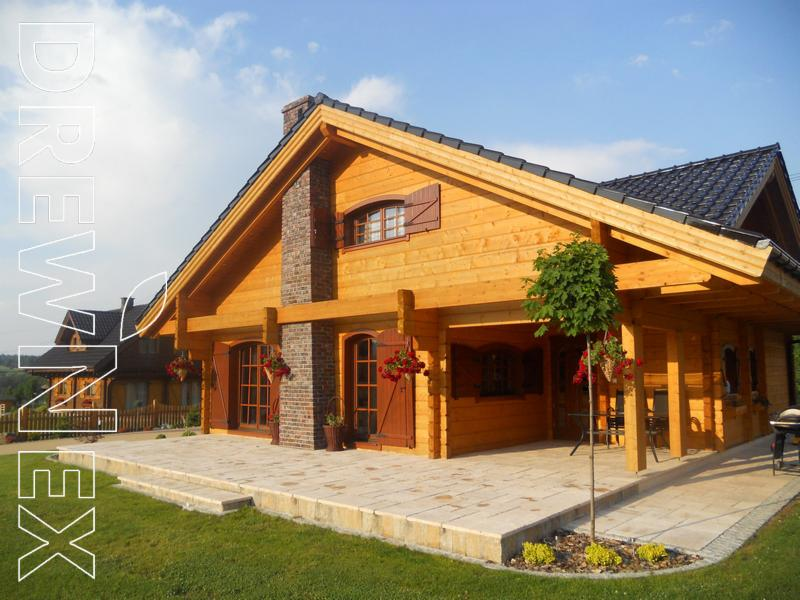 Dom drewniany spytkowice oferta nr 60187 for Case di tronchi di blocchi di legno