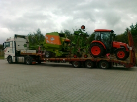 Transport specjalistyczny, koparki, spycharki, maszyny rolnicze, budowlane, oferta