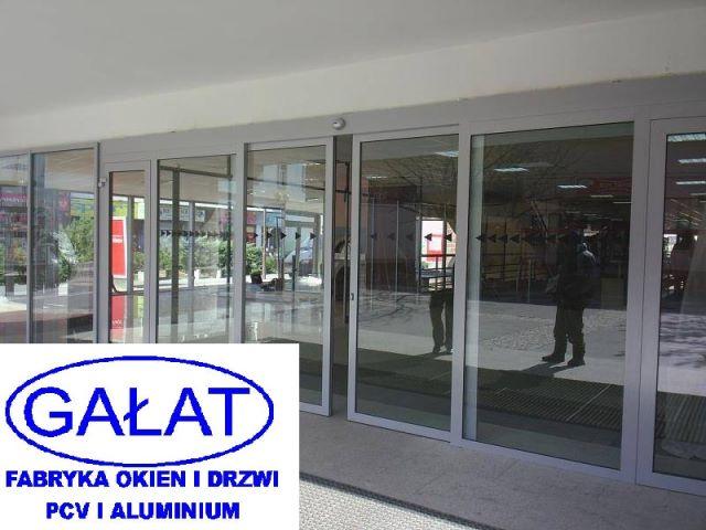 Masywnie drzwi automatyczne przesuwne rozsuwane aluminiowe, Nowy Sącz OZ87