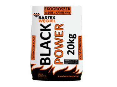 Ekogroszek BLACK POWER kaloryczność 24-25MJ/kg