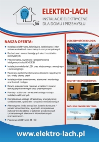 "Elektro-Lach Folder Reklamowy 2/4 ""Nasza Oferta"""