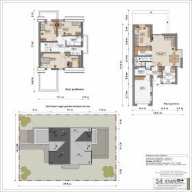 Projekt budynku mieszkalnego jednorodzinnego z poddaszem użytkowym, oferta