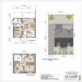 Projekt budynku mieszkalnego jednorodzinnego z poddaszem użytkowym przeznaczonego na wąską działkę
