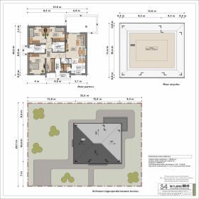 Projekt budynku mieszkalnego jednorodzinnego parterowego