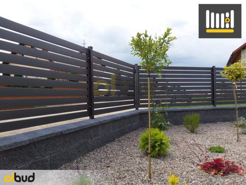Inne rodzaje Nowoczesne poziome ogrodzenia frontowe - Oferta nr 104315 - Oferteo.pl ZO93