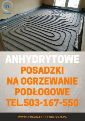 Posadzki anhydrytowe - wylewki na ogrzewanie podłogowe - anhydryt Lubin Polkowice