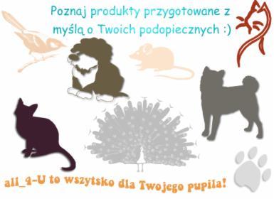 Sprzedaż akcesoriów dla zwierząt - CAŁA POLSKA
