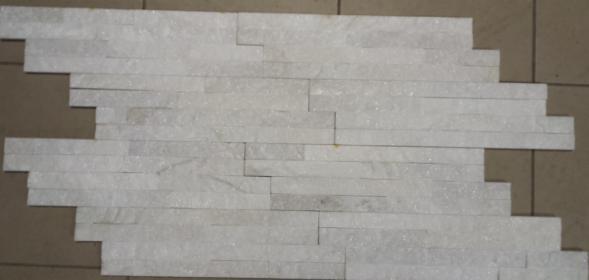 Panele kwarcytowe białe/WHITE o wym. 10x36 cm - elewacje, ściany