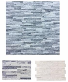 PANEL ŚCIENNY i ELEWACYJNY, kwarcyt szaro-biały Cloud Grey