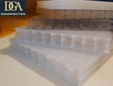 Płyty - poliwęglan komorowy 20 mm bezbarwny - na naświetla, zadaszenia