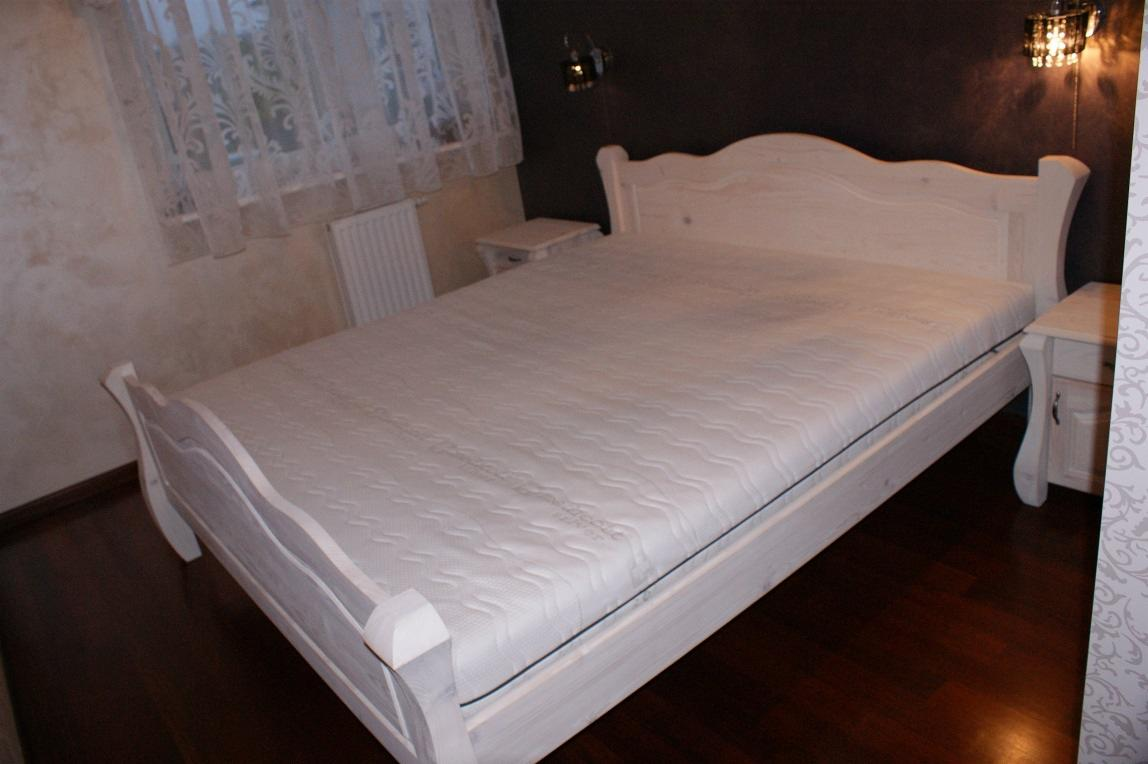 Unikalne Nowe Białe Łóżka z Drewna,Drewniane Meble od PRODUCENTA, Nowy Sacz GG59