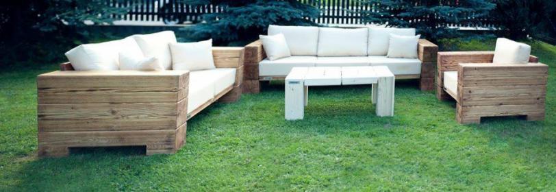 Komplet mebli ogrodowych + duża ława kawowa (WADesign)