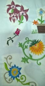 hafty na odzieży oraz na wykrojach