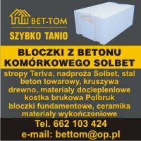Beton komórkowy SOLBET