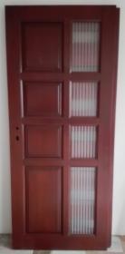 Drzwi drewniane wewnętrzne, kolor: afromozja