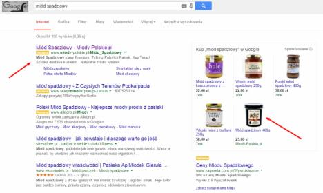 Reklama w Google (SEO + AdWords + reklamy produktowe + remarketing)