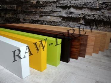 Półka Drewniana 100x16x5 Z Ukrytym Mocowaniem