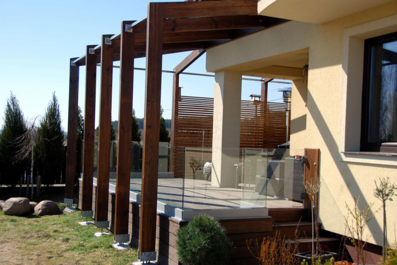 Nowoczesna architektura Tarasy drewniane, drewno egzotyczne - Oferta nr 104708 - Oferteo.pl QE81