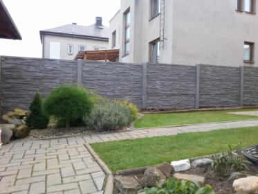 Ogrodzenie betonowe, płot betonowy, przęsło betonowe