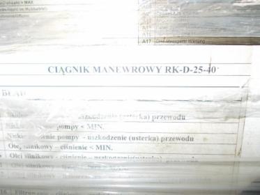 Ciągnik manewrowy Spalinowy typ RK-D-25-40 nr.fabr.54/13 uzywany rok prod.2014