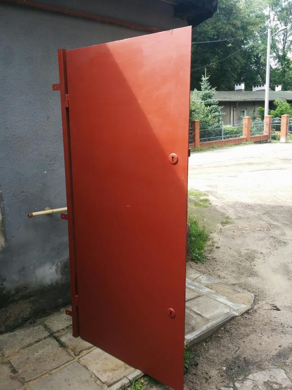 Rewelacyjny SOLIDNE drzwi stalowe metalowe działka, piwnica, Chorzów - Oferta NP62