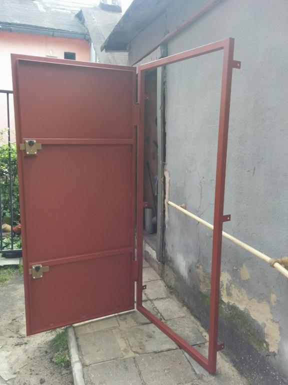 Niesamowite SOLIDNE drzwi stalowe metalowe działka, piwnica, Chorzów - Oferta PW13