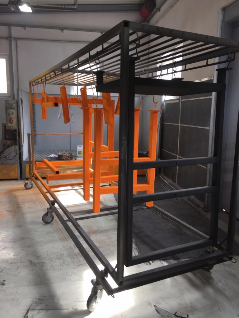 Wybitny Malowanie proszkowe elementów metalowych i konstrukcji stalowych MZ38