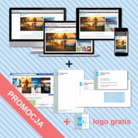 Strona Internetowa w pakiecie z logo, wizytówką Google, znacznikiem na mapach i fanpagem na FB