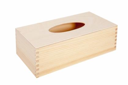 Pudełko drewniane na chusteczki prostokątne