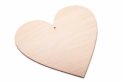 Serce drewniane zawieszka 15cm