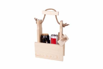 Skrzynka drewniana ,nosidełko na 2 piwa, napoje