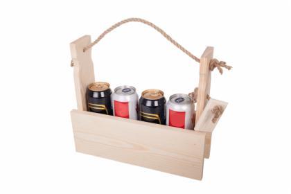 Skrzynka drewniana ,nosidełko na 4 piwa, napoje