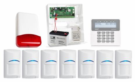 Alarm Satel Perfecta z powiadomieniem GSM, Push, sterowanie + aplikacja na telefon.