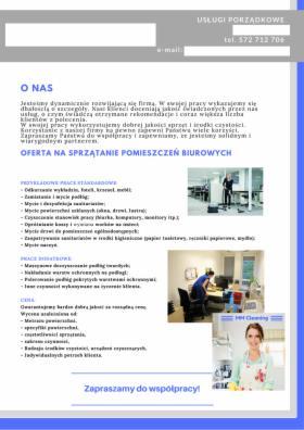 Sprzątanie biur i pomieszczeń socjalnych, Szczecin, oferta