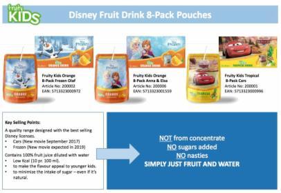Napoje z motywami bajek Disney