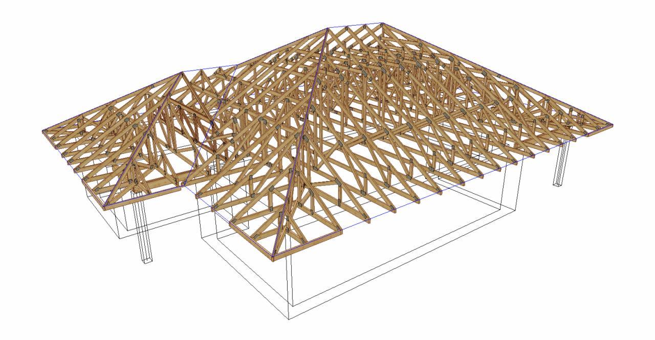 W Mega więźba dachowa, projekty wiązarów dachowych - Oferta nr 124215 GQ87