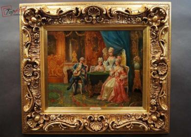 Obraz Pałacowy obraz salonowy koncert Stephan Sedlacek (1868-1936)