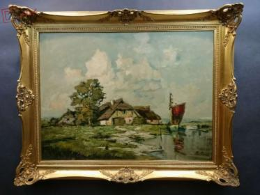 Obraz Tajemnicza wieś rybacka Rudolf Priebe