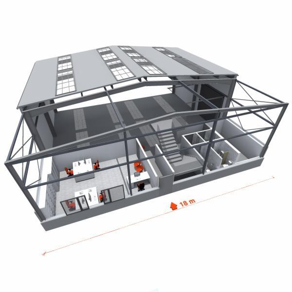 Bardzo dobra hala stalowa, hale stalowe, magazyn, biuro, konstrukcja stalowa PG92