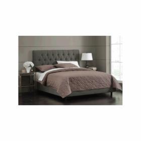 łóżko Dwuosobowe 160 X 200 Cm Z Wezgłowiem
