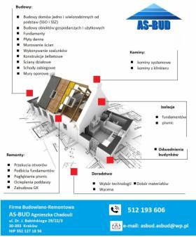 Budowy SSO, SSZ, konstrukcje żelbetowe, fundamenty, płyty denne, pogłębianie piwnic itp, Kraków, oferta