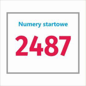 Numery startowe na zawody MTB
