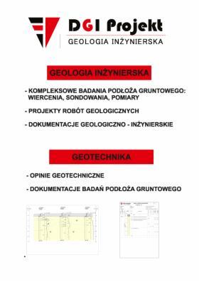 Dokumentacja geologiczno - inżynierska
