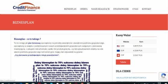 Naprawa strony internetowej