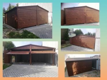 Garaż blaszany drewnopodobny dwustanowiskowy