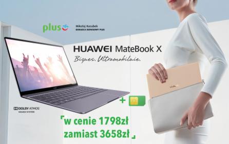 Internet z laptopem Huawei MateBook X, Warszawa, oferta